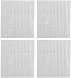 eDealMax 96 Pares cosmética Herramienta Blanco claro párpado Doble Fabricante engomadas adhesivas