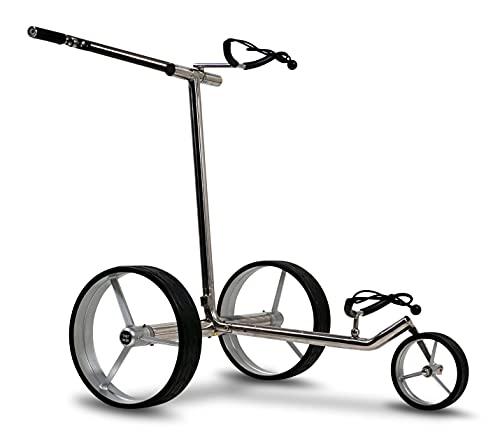 tour-made Haicaddy® HC7S Travel PRO Edelstahl Lithium Elektro Golftrolley - mit elektronischer Bergabfahrbremse (Rahmen gerade) - 6
