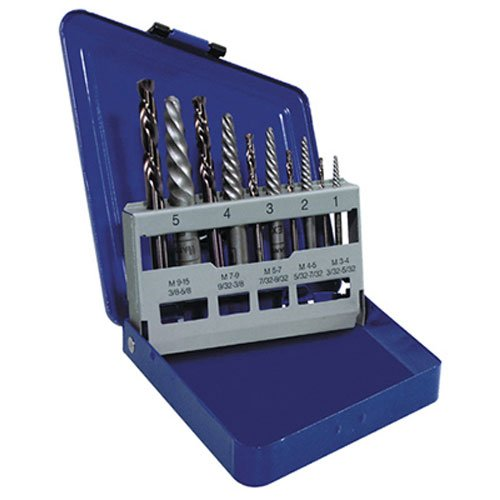 IRWIN Screw Extractor/ Drill Bit Set, 10-Piece (11119)