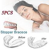 Dedeka Paquete de 5 Férula Dental Anti bruxismo,Protectores bucales moldeables para el rechinar de Dientes Bruxismo para la protección de los...