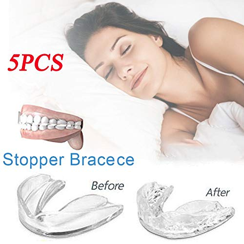 Dedeka Paquete de 5 Férula Dental Anti bruxismo,Protectores bucales moldeables para el rechinar de Dientes Bruxismo para la protección de los Dientes de rectificación Nocturna