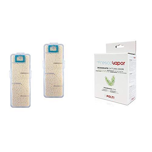 Polti PAEU0336 Kit Filtri Anti Calcare per Scope a Vapore & PAEU0285 Frescovapor Deodorante Cattura Odori per Vaporetto