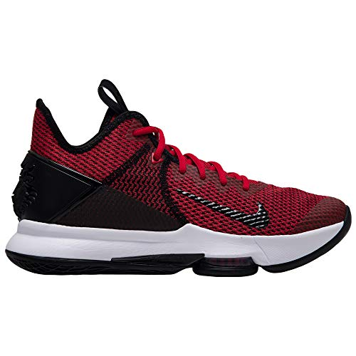 Nike Lebron Witness IV, Zapatillas de Baloncesto para Hombre, Multicolor (Black/Gym Red/White 002), 44 EU