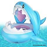 Weokeey Baby Schwimmring, Baby Schwimmen Schwimmtrainer mit Abnehmbarem Sonnendach, Baby...