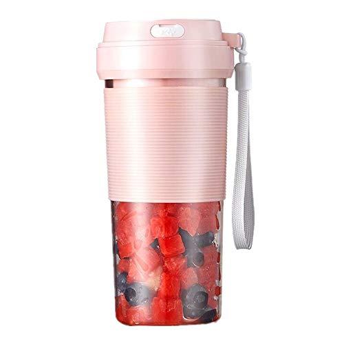 ZTCWS Draagbare mixer, USB oplaadbare mini-juicer cup met handgreep, smoothie blender met 2 messen met batterijen, voor het huishouden en fruit mixer voor op reis, sportschool