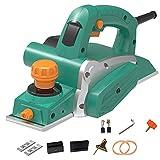 LZHFILTER Potente Kit Cepillado Manual, Cepillo Eléctrico Profundidad Ajustable 650 W, con 2 Cuchillos Cepilladores, Adecuado Carpintería Y Bricolaje Doméstico