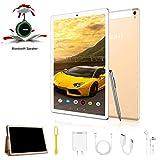Tablette Tactile 10 Pouces 4G FHD - 4Go RAM 64Go ROM Android 9.0 Tablet PC Quad Core Batterie 8500mAh Dual SIM Caméra WiFi,GPS,OTG Tablette avec Haut-Parleur Bluetooth(Or)