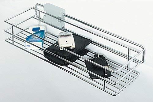 Preisvergleich Produktbild Ausziehkorb Teleskopschublade Schrankauszug mit Korb ausziehbar / 160 x 455 x 98 mm / Stahl verchromt poliert / Möbelbeschläge von GedoTec®