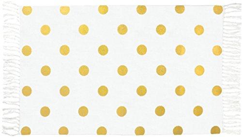 TAPIS DE BAIN 50X80 PEAS BLANC / GOLD