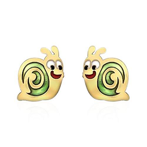 TJC 9ct Yellow Gold Snail Stud Earrings Best Gift for Children's or Kids