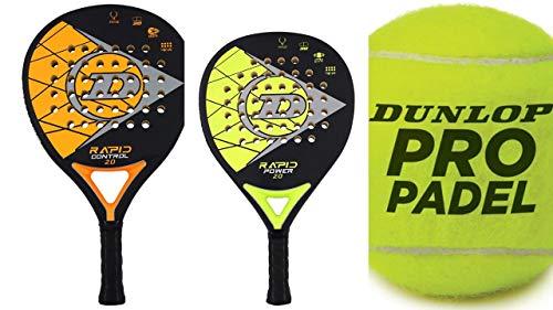 Dunlop Padel Schläger Set Rapid Power/Control + 3 Bälle