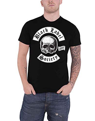 Black Label Society - Camiseta Oficial de The Almighty Sdmf Band Logo para Hombre - Negro - Medium