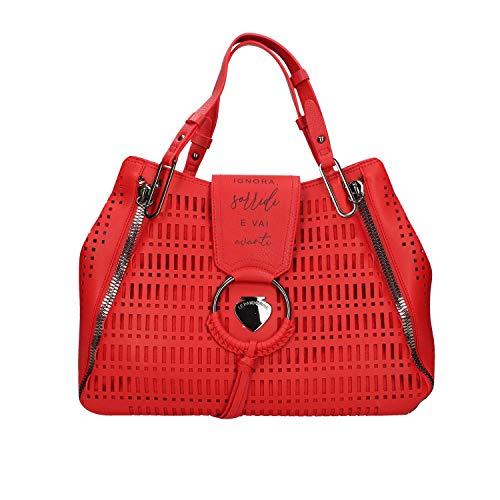 Le Pandorine Borsa a Spalla Vichy Drill Colore Rosso PE20DAH02487