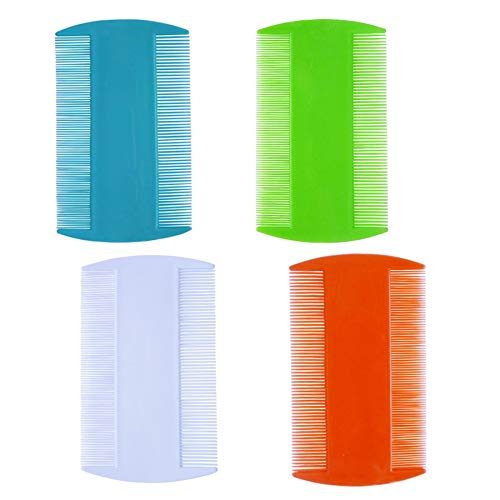 4 Pcs Hair Comb Double Sided Fine Tooth Combs