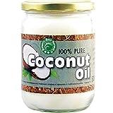 Aceite de Coco 100% Puro - 500 ml de Aceite Virgen Extra Organico, Ecologico y Natural - Para Cocinar, Hornear, Freir, y Para Uso Cosmetico en Cabello y Cuerpo, Cara, Dientes , Bebes y para Masajes
