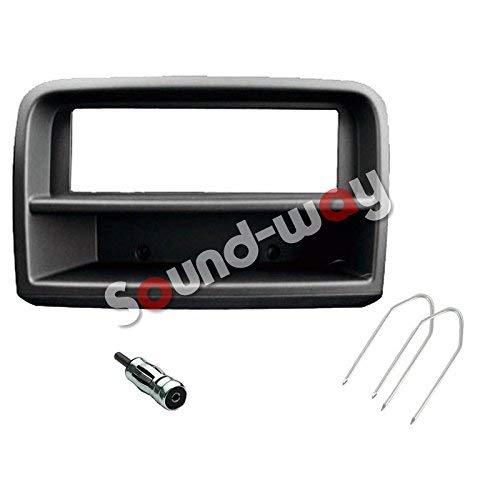 Sound Way Kit Montaggio Autoradio, Mascherina 1 DIN, Adattatore Antenna, Chiavi per Smontaggio, Compatibile con Fiat Croma