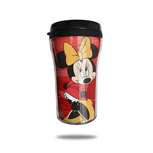 Micky Maus Kaffeetassen Reisebecher Wärmer Tumbler Tasse, personalisierbare Kunst-Wasserflasche, Thermoskanne Kaffeetassen mit Deckel, 250 ml