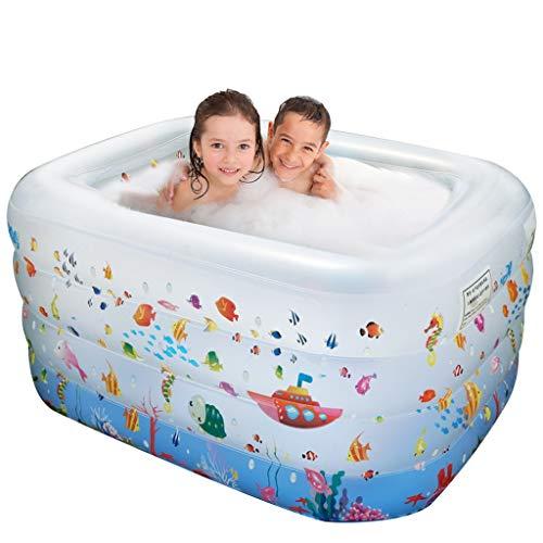 LMJ 1,2M Piscinas Infantiles Piscinas inflables con patrón Yacht Espesano Piscina Sreational para Familia Ocean Ball Backyard Pools Nflatable (Color : A)