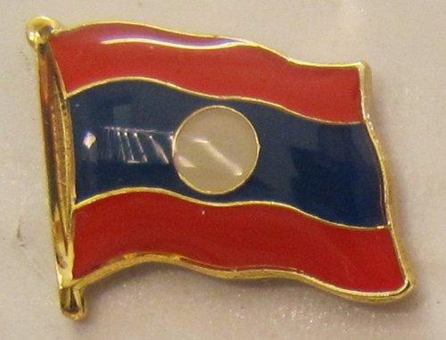 Laos Pin Anstecker Flagge Fahne Nationalflagge Flaggenpin Badge Button Flaggen Clip Anstecknadel