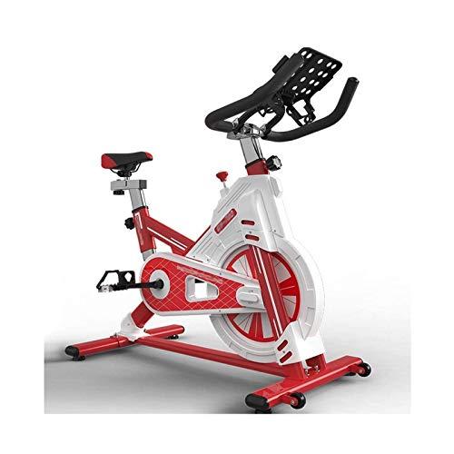 DJDLLZY Bicicleta estática, Studio Ciclos Ejercicio máquinas de Cardio Entrenamiento, Actividades de Interior Bicicleta de Spinning, manillares Asiento Ajustable, 100 kg de Capacidad de Carga máxima