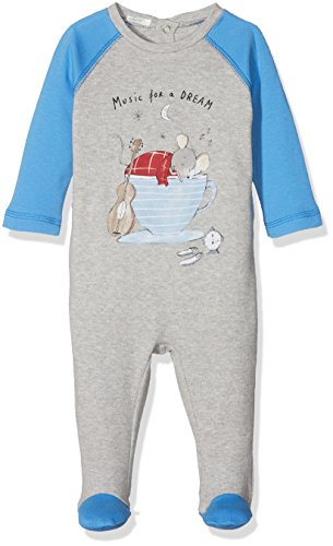 United Colors of Benetton United Colors of Benetton Baby-Jungen Pyjama Overall with Print Schlafanzughose, Grau (Grey 501), 56