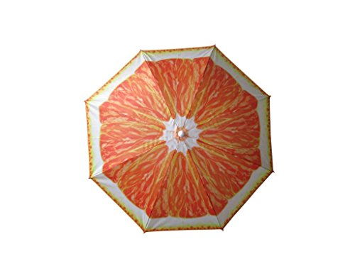 NATUUR Sombrilla Playa 180cm. Estampado Fruta Naranja