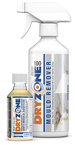 Dryzone Mould Treatment Including Dryzone 100 Mould Spray & Dryzone Anti-Mould Paint Additive -...