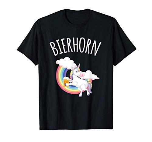Bier Einhorn Beer Unicorn Beernicorn Bierhorn Frau Schnaps T-Shirt
