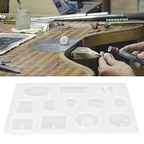 Moldes de silicona, kit de fabricación de moldes de fundición de joyas para colgantes para collar para joyería