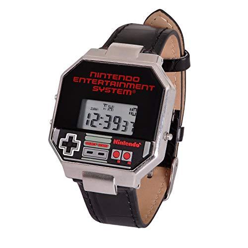 Accutime Nintendo Armbanduhr NES Controller Digital schwarz