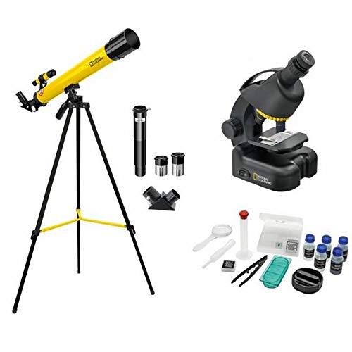National Geographic Teleskop und Mikroskop Set für Kinder und Einsteiger mit umfangreichen Zubehör