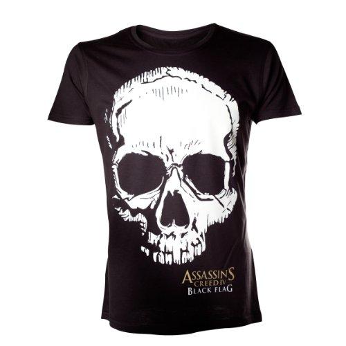 Assassins creed iV t-shirt skull assassin's creed flag taille xL (noir)