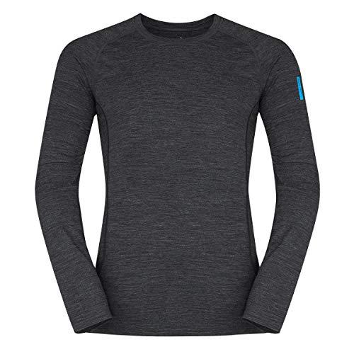 Zajo outdoor herenshirt Bjorn lange mouwen functioneel shirt 83% merino wol thermo-ondergoed van merinowol thermo-bovendeel functioneel ondergoed skiondergoed