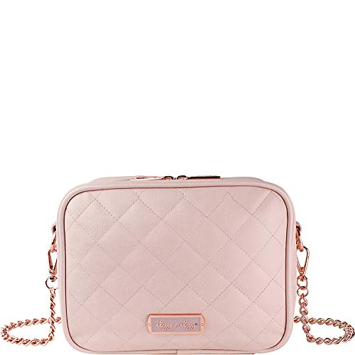 Itzy Ritzy Crossbody Diaper Bag – Features 6 Pockets & 2 Compartments; Includes Changing Pad; Blush
