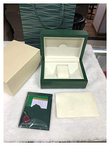 XXSW Cuero Reloj Caja Caja de Madera Verde Original Tarjeta de Archivo de Caja de Reloj Caja de Reloj de la Cartera Cajas (Color : Green)