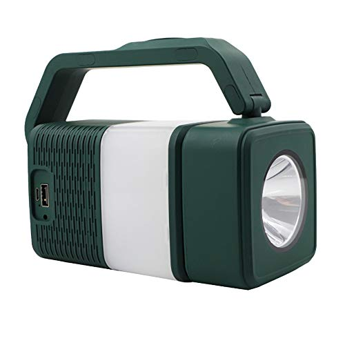 QINGCHA Altavoz de inducción, luz Bluetooth al aire libre, portátil, multiusos, para camping, banco de energía, altavoz Bluetooth, altavoz para ordenador, altavoz inteligente, sonido estéreo y graves