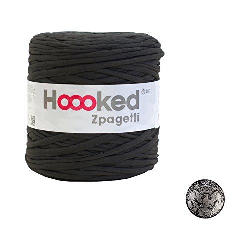 Hoooked Zpagetti (フックドゥ ズパゲッティ) #Brown + コンチョボタン (鳥) 30mm セット
