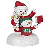 Hallmark Keepsake Ornament 2020, Cozy Christmas Selfie Snowman, Musical With Light