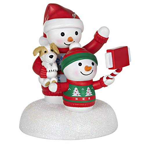 Hallmark Keepsake Ornament 2020, Cozy Christmas Selfie Snowman, Musical With Light