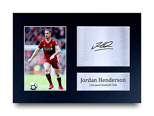 HWC Trading Jordan Henderson A4 Ungerahmt Signiert Gedruckt Autogramme Bild Druck-Fotoanzeige Geschenk Für Liverpool Fußball Fans