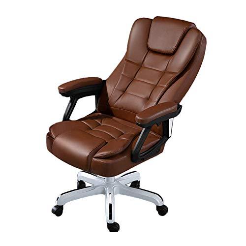 FENGLI Silla de oficina ergonómica Silla ejecutiva de 145 grados; reclinable, altura ajustable, giratoria, con reposabrazos y ruedas, silla de ordenador de respaldo alto