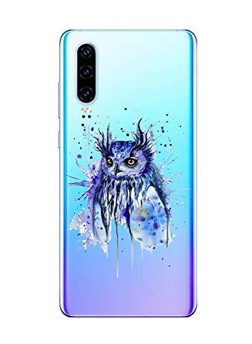 Suhctup Funda Compatible con Huawei Honor 7A Transparent,Carcasa Protección Silicona Gel TPU Bumper Moda Dibujos Protector Piel Ultra Pulgadas Anti Choques Estuche Case para Huawei Honor 7A(5)