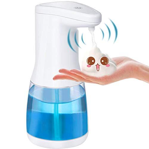 Dispensador Jabon Automático Eléctrico,20oz/600ml Dispensador de Jabón Sin Contacto,Dispensador de Jabón de Espuma por Inducción Infrarroja para Baño Cocina Inodoro