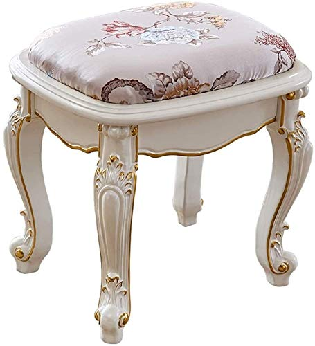N/Z Daily Equipment Dressing Table Stool Padded Dressing Table Stool Bench Chair Makeup Seat Piano Chair with Wood Legs 45x40x42cm (Size : 45 * 40 * 42cm)