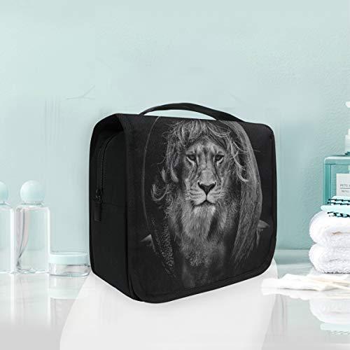 Maquillage cosmétique sac portable cool mode lion voyage sac de rangement sac de toilette pour femmes dame