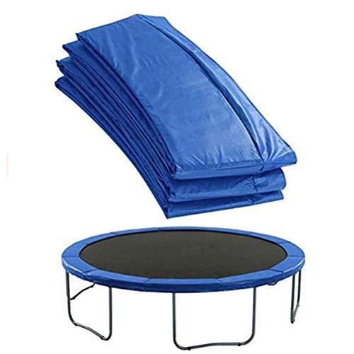 COSEAN Copri Bordo Cuscino per Trampolino, 8 Piedi Protezione Bordo Tappeto Elastico, PVC, 100% Resistente ai Raggi UV antistrappo a Molla, Blu