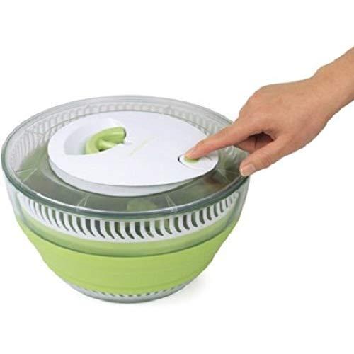 Chirs offer faltbarer Salatschleuder, Salattrockner, platzsparend, Salatschüssel, manuell, für Gemüse und Salat