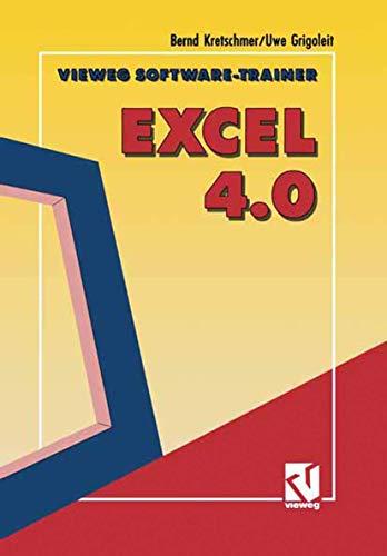 Vieweg Software-Trainer, Excel 4.0, m. Diskette (5 1/4 Zoll)