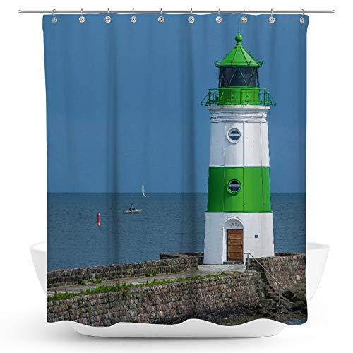 fotobar!style Duschvorhang 175 x 200 cm Leuchtturm Schleimünde