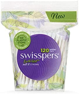 3 PACK OF Swisspers Cotton Tips Paper Stems 120 Pack